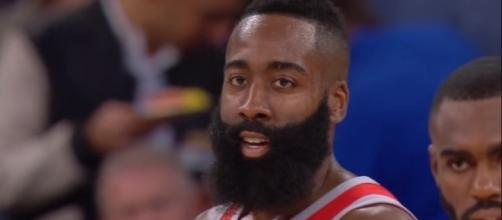 Rockets guard James Harden had 36 points in a win against the Knicks -- Ximo Pierto via YouTube