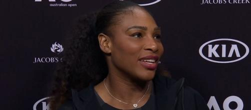 Serena Williams during a press conference after winning the 2017 Australian Open/ Photo: screenshot via Australian Open TV channel on YouTube