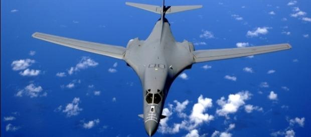 A B-1B bomber, pictured here, flew over the Korean peninsula - Photo - https://wikimedia.org