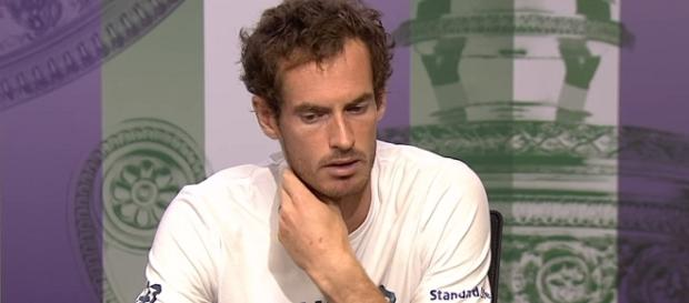 Andy Murray during a press conference at the 2017 Wimbledon/ Photo: screenshot via Wimbledon official channel on YouTube