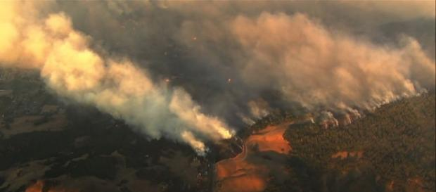 California's wine country reels from the damage of wildfire early this week.   Credit (Associated Press/YouTube)