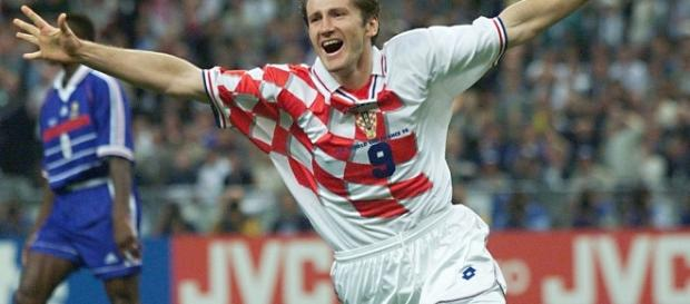 Davor Suker, a member of the Croatian 'Golden Generation' celebrates his goal in 1998. (Image Credit: SAINT-DENIS/Flickr)