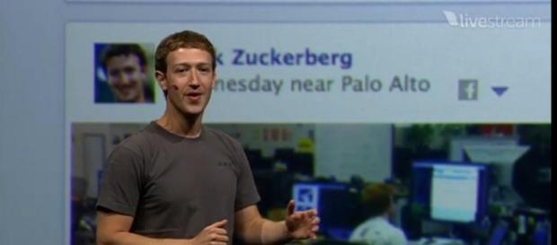 Facebook CEO Mark Zuckerberg on his key note [ Image - Carla Yashiro, Flickr]