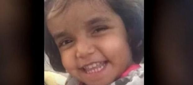 Sherin Mathews missing in Richardson, TX. (Image from WFAA/YouTube)