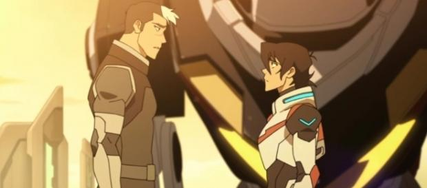 Shiro tells Keith that he should accept his new role. Credits to: Youtube/Voltron