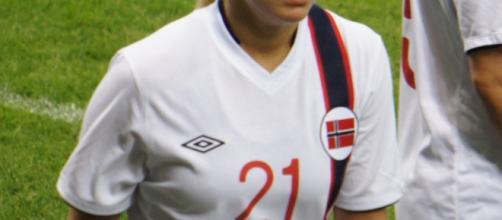 Ada Hegerberg, stella della Nazionale norvegese femminile - Foto wikimedia commons