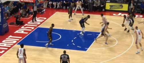 Boban Marjanovic easy dunk - Detroit Pistons vs. Indiana Pacers; (Photo Credit: NBA highlights/Youtube)