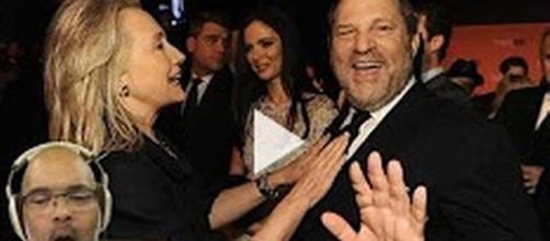 Hillary Clinton and Harvey Weinstein [Image Source: CommonSense Avenger/YouTube]