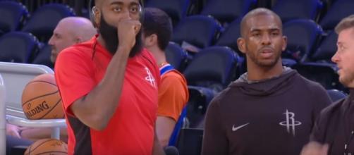 Houston Rockets vs New York Knicks -Preseason game [Image Credit: AllStar Channel/YouTube screencap]
