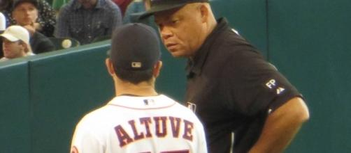Jose Altuve was one of many players who shone in the Astros series win over the Red Sox. Image Source: Wikimedia Commons