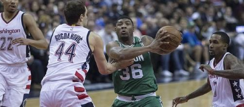 Marcus Smart against the Washington Wizards (Image Credit: Keith Allison/Flickr)