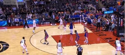 NBA Preseason: Raptors vs. Pistons game. Rapid Highlights/YouTube screen cap