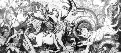 Rappresentazione grafica della battaglia di Ragnarok