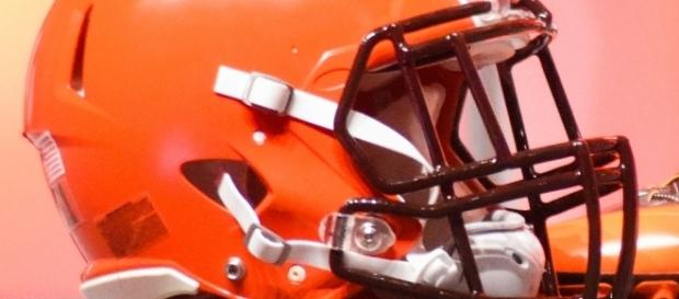 Cleveland Browns New Uniform Unveiling [Image by Erik Drost|Wikimedia Commons| Cropped | CC BY- 2.0 ]