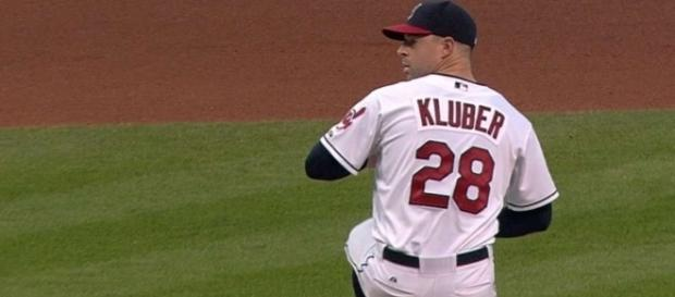 Cleveland will have ace Corey Kluber back on the mound to try to close out the Yankees in a big Game 5 for the ALDS. [Image via MLB/YouTube]