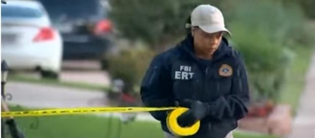 FBI search Sherin Mathews' family home in Richardson, TX. (Image from WFAA/YouTube)