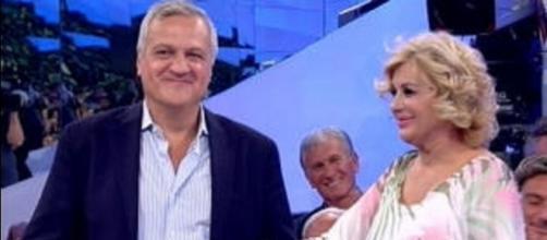 David con l'opinionista Tina Cipollari