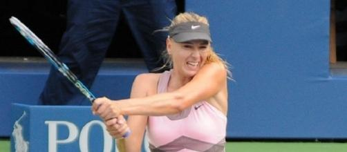 For a spot in the semifinals, Maria Sharapova will play qualifier Stefanie Voegele -- Christian Mesiano via WikiCommons