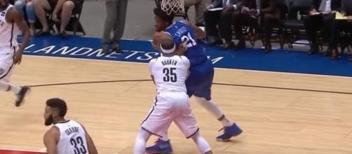 Joel Embiid was dominant in his preseason debut for the 76ers -- NBA via YouTube