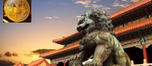 Leão budista chinês encara bitcoin