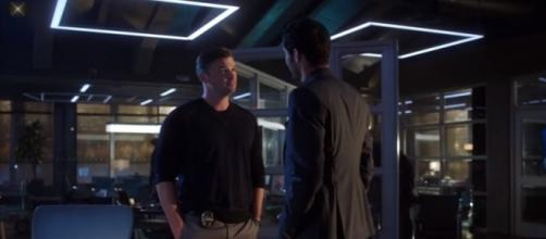 """Marcus talks about the Sinnerman with Lucifer in season 3 episode 2 of """"Lucifer."""" (Image Credit: LuciChloe/Youtube)"""