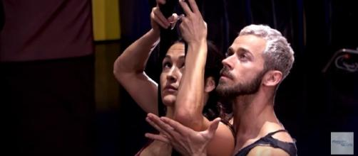 Nikki Bella during her dance rehearsals, Image Credit: Dancing With The Stars / YouTube
