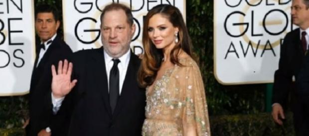 Harvey Weinstein and Georgina Chapman in an undated photo - YouTube/UK News Update