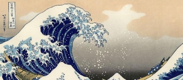 La grande onda di Kanagawa, una delle opere di Hokusai in mostra all'Ara Pacis a Roma