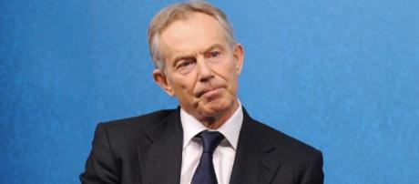 Tony Blair expressing his regret at applying an aid blockade to Gaza - Wikipaedia no photogapher cited