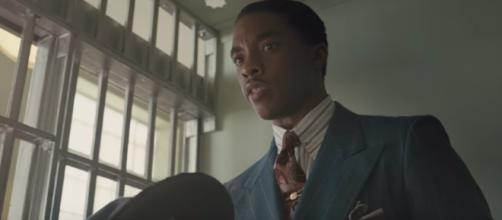 Chadwick Boseman stars in the title role for the new movie 'Marshall' in theaters Friday. [Image via Zero Media/YouTube]