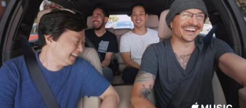 Chester Bennington's Carpool Karaoke video released. (Image Credit - MUSIC/YouTube Screenshot)