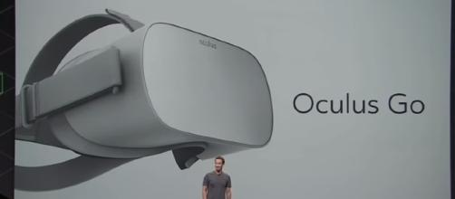 Facebook is expected to release the Oculus Go virtual reality headset sometime in early 2018. [Image Credit: Market Reaction/YouTube]
