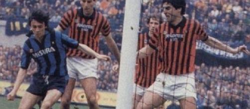 Giuseppe Minaudo decide il derby di Milano in favore dell'Inter, il 6 aprile 1986