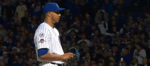 Hector Ronon pitching in 2015 Postseason - image - MLB / Youtube