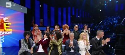 I concorrenti di Tale quale show pochi istanti prima della proclamazione del vincitore della quarta puntata