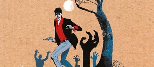 La copertina de 'L'alba dei morti viventi' da 'Il Dylan Dog di Tiziano Sclavi'.