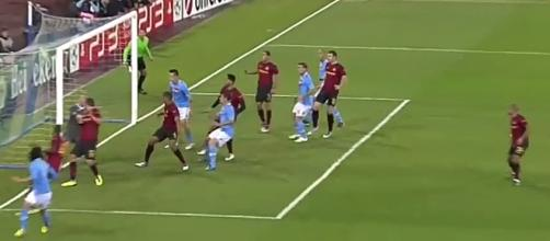 Manchester City last hosted Napoli in 2011 Chamipons league [Image via: sp0rtHD/YouTube]