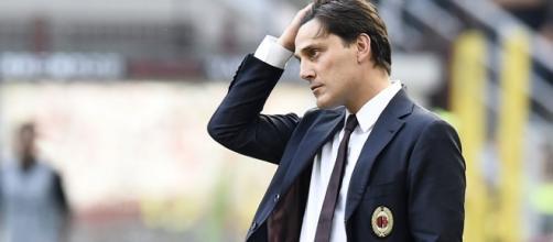 Montella si dispera dopo una brutta prestazione del Milan