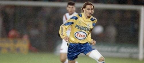Olivier Baudry sous le maillot du FCSM.