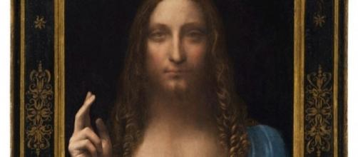 """Salvator Mundi"" by Leonardo da Vinci FAIR USE pinterest.com Creative Commons"