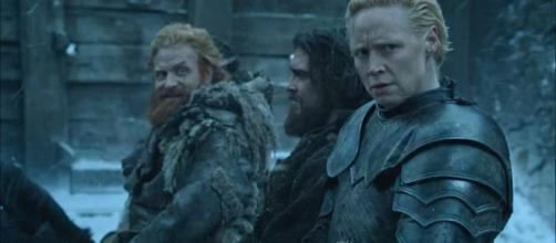 Tormund may survive the Night King attack on the Wall and complete a love triangle with Brienne and Jamie. [Image Credit: HBO/YouTube]
