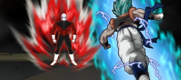 Gogeta SS Blue pelea con Jiren