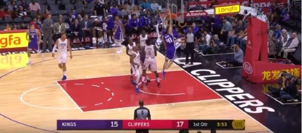 LA Clippers won against Sacramento Kings in the NBA preseason. (Image Credit: Sacramento Kings/YouTube)