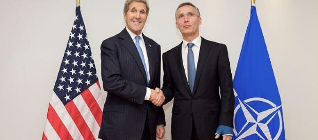 U.S. Secretary of State John Kerry and NATO Secretary General Jens Stoltenberg [Image Credit: U.S. Department of State/Wikimedia Commons]