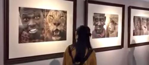 A museum in China has removed an exhibit after complaints about racially-offensive photos [Image credit: Shanghaiist/YouTube]