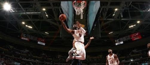 Dwyane Wade helped lead Cleveland to its first preseason win on Friday night. [Image via NBA/YouTube]