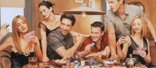 'Friends' playing poker. (Image Credit: Friends_serial_poker_chips/Flickr)