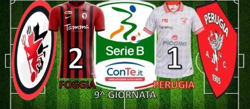 Il Foggia ha battuto 2-1 il Perugia nella 9^ giornata del campionato di Serie B 2017/18