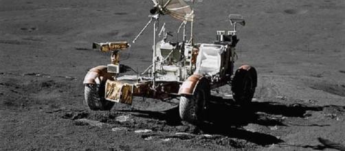 The Apollo 17 lunar rover [image courtesy of NASA]