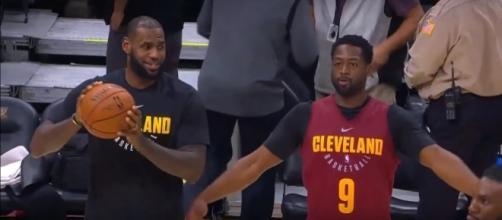 The Cavaliers won their first preseason game with LeBron James on the sideline -- Ximo Pierto via YouTube